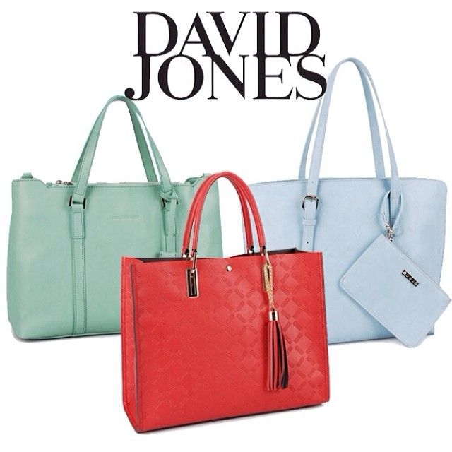The sun is shining and it has us thinking all about bright colours for the spring! #DavidJones #HandBags #Fashion #Style