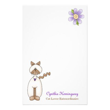 Cute Cat Lovers Custom Stationery - tap, personalize, buy right now!