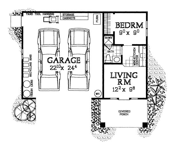 Garages plans with living quarters woodworking projects for Live in barn plans