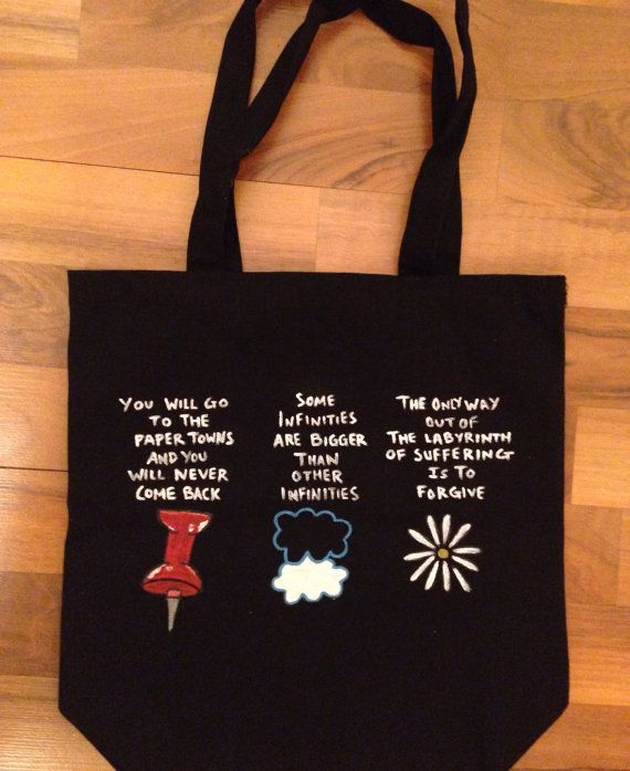 John Green Books Quote Tote by ThePerksOfBeingArtsy on Etsy