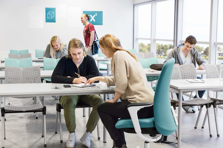 The humble classroom. Where young minds are sculpted into leaders of tomorrow. HÅG SoFi and HÅG Conventio Wing #combo #education #InspireGreatWork #design #Scandinavian