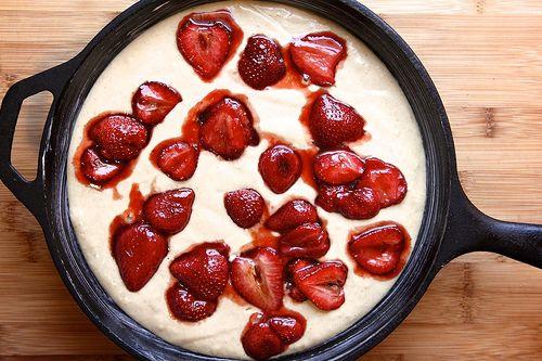 roasted strawberry buttermilk cake