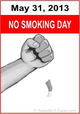 """""""Dia Mundial Sem Tabaco! Eu parei de fumar!"""" No Tobacco Day 31st May 2013"""