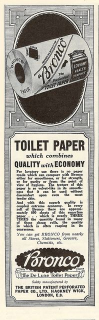 Bronco Toilet Paper Advertisement Issued By The British