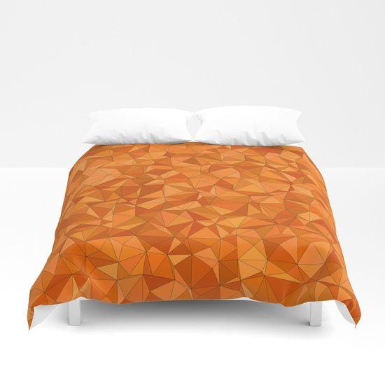 Crackled Orange Duvet Cover