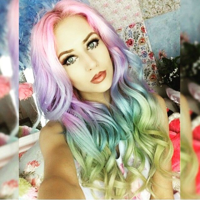 Mermaids are real. Mermaid hair unicorn hair rainbow hair my little pony hair Amy the Mermaid hotonbeauty.com
