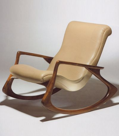 Vladimir KaganContour Rocking Chair -  COULD THIS BE ORDERED IN A FABRIC!