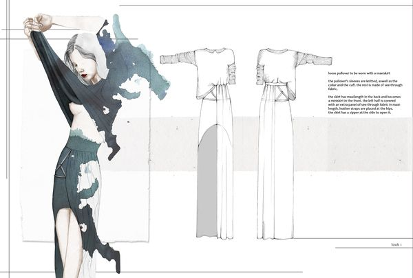 Fashion Sketchbook - fashion design drawings; fashion illustration; fashion portfolio // Nina Hecht