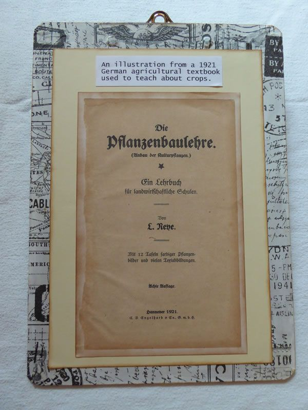A photocopy of the 1921 German book's inside front cover has been added to the back of the clipboard to explain the history of the piece. www.brushandbolt.com