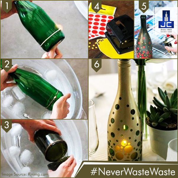#NeverWasteWaste! Use an old and used bottle to make an attractive lamp for a dark corner of your home. Are you trying one for yourself?