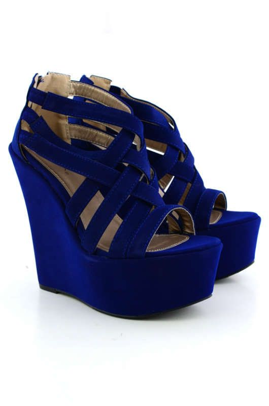 1000  ideas about Royal Blue Wedges on Pinterest | Royal blue high