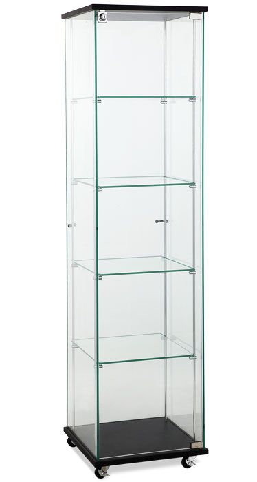 Square Glass Showcase Tower Display  http://www.tsisupplies.com/Floor-Display-Cases/Square-Glass-Showcase-Tower-Display/