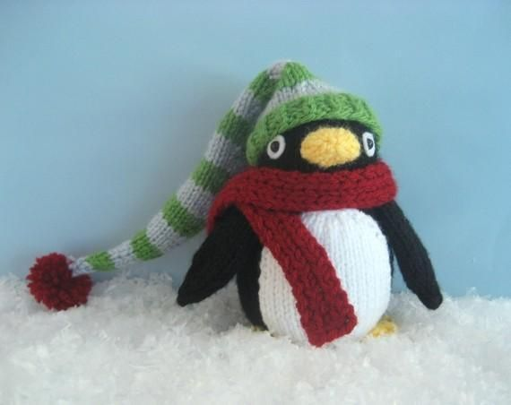 Knit Penguin Amigurumi Pattern by Amy Gaines.