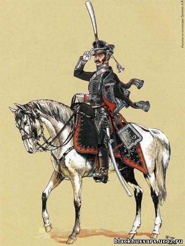 Александрийский гусарский полк (так называемые черные гусары). Непосредственного участия в боях 1812 года не принимал. Перекрывал дороги на Киев, уничтожал французских фуражиров. Участвовал в заграничном походе 1813-15 годов.