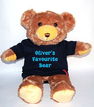 Personalised Teddy Bear from simplycolors.co.uk