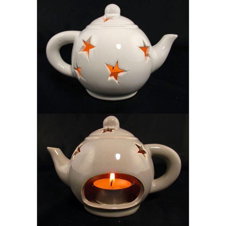 Świąteczny świecznik na podgrzewacze, (tealighty) imbryczek to bardzo łądna dekoracja świąteczna, która ociepli klimat domu w ten szczególny czas.