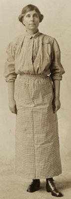 Abby Scott Baker in Prison Dress - National Women's Party Leader - 1917 She was charged and convicted of protesting for women's Sufferage.