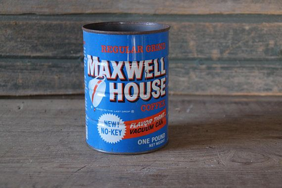 Maxwell House Coffee can  1 lb.