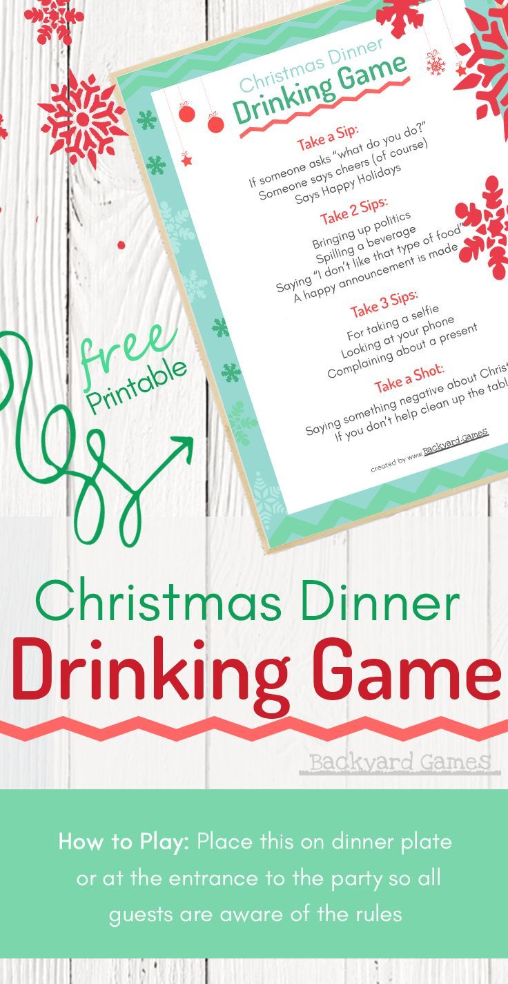 Christmas Dinner Drinking Game, This Will Spice Up Your