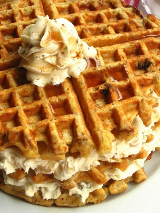 The rest are cool ideas but this is the best one - 23 Things You Can Cook In A Waffle Iron | Waffle Iron Carrot Cake