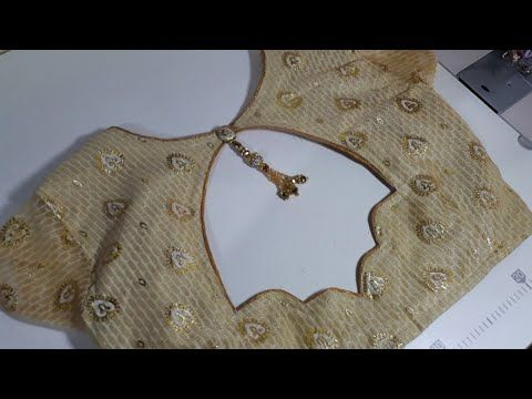 Very Beautiful And Very Easy Blouse Back Neck Design Cutting And Stitching - YouTube