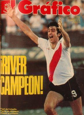 1981 Mario Kempes; River Campeon