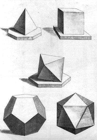 Dibujo artístico de modelado - Formas geométricas