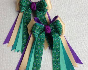 Halloween de arcos ecuestre caballo púrpura muestra Print de pavo real verde Teal