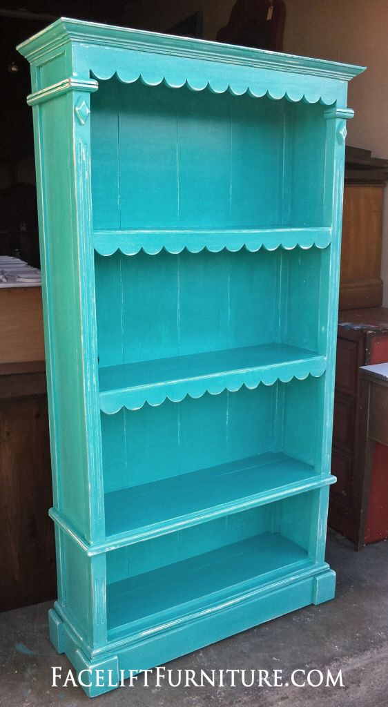 Ornate Bookshelf Refinished In Turquoise U0026 White Glaze. Homemade FurnitureDiy  FurnitureRefinished Bedroom ...