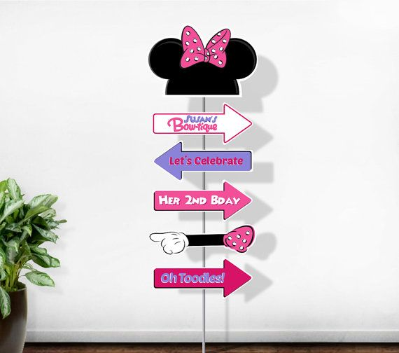 Personalized Minnie Mouse arrow sign (digital file)
