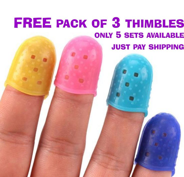 FREE Silicone Thimble Tip 3 PACK