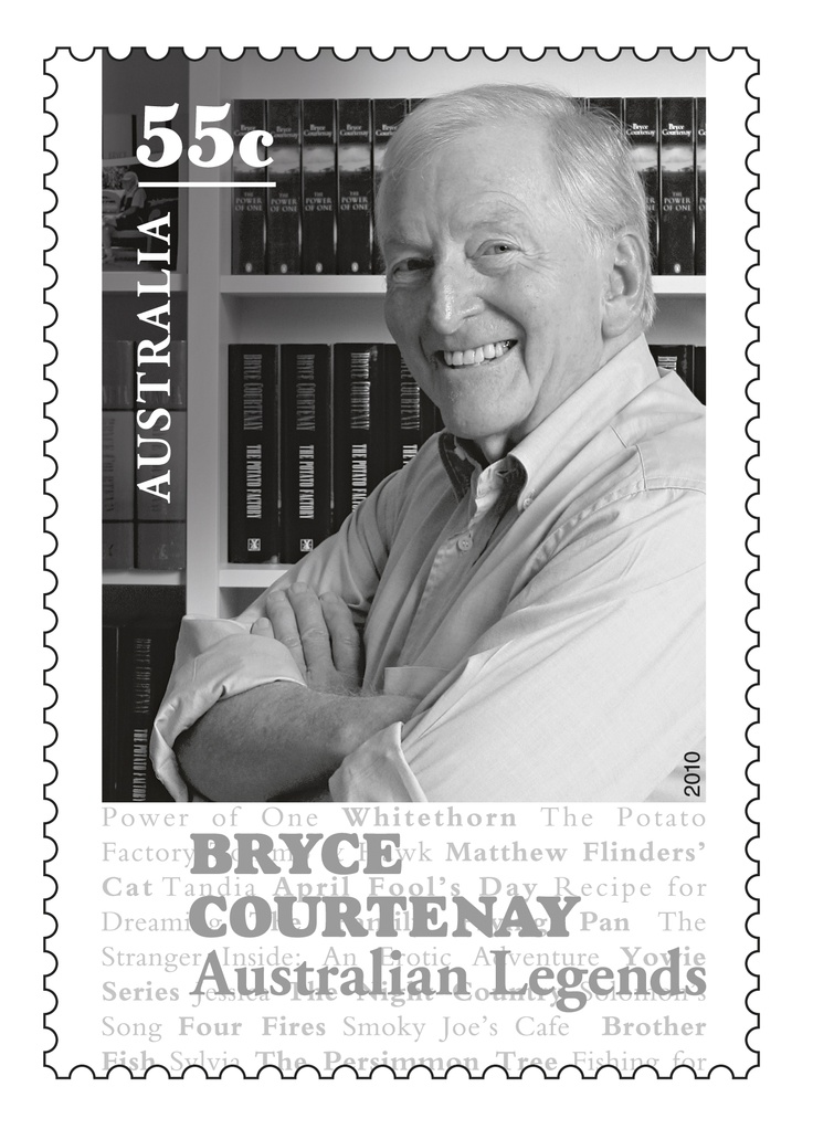 2010 Australian Literary Legends - Bryce Courtenay  Wishing you good health Bryce!  #stamps