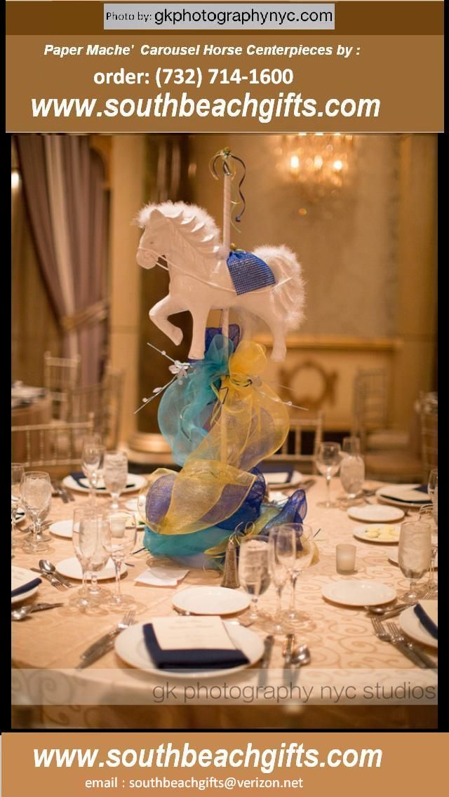 1000 Images About Carousel Horse Centerpieces Table