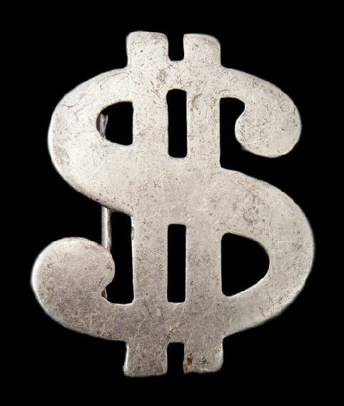 Solid Money Dollar Sign Cool Belt Buckle
