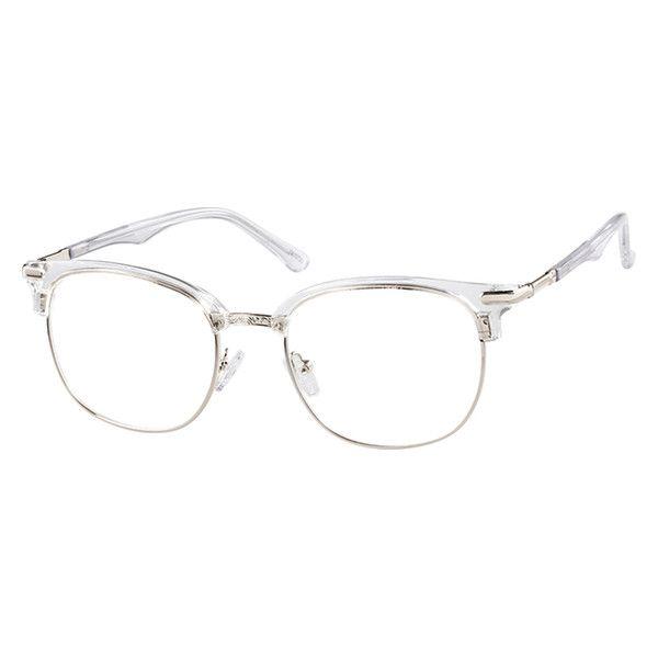 Translucent Browline Glasses 7810723 Zenni Optical Eyeglasses