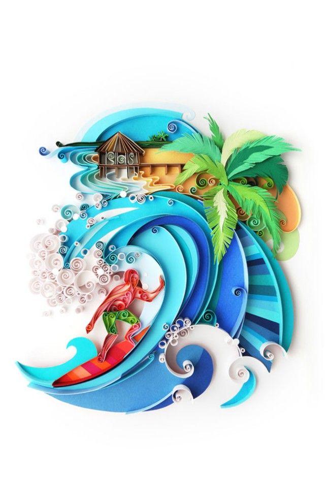Paper Art by Yulia Brodskaya – Fubiz™: Paper Quilling, Julia Brodskaya, Colors Design, Paper Sculpture, Paperart, Quilling Art, Paper Artworks, Art Pieces, Yuliabrodskaya