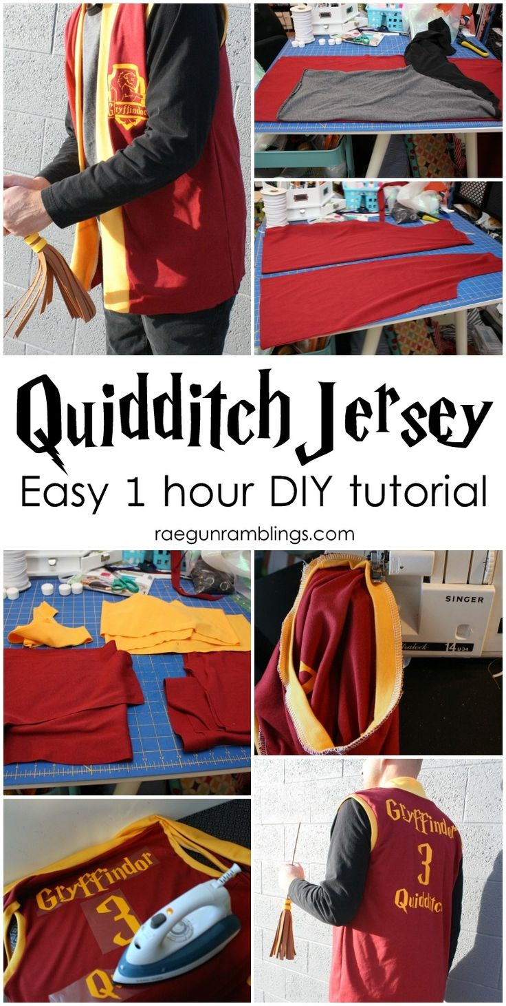 Make a Harry Potter costume in 1 hour. Easy DIY quidditch robes jersey tutorial. would make a fun Christmas gift