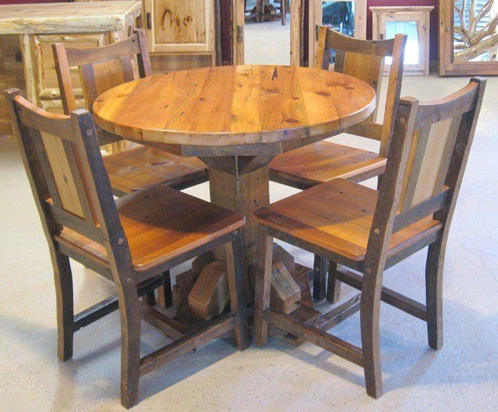 Round Barnwood Table 67 725×600 Pixels
