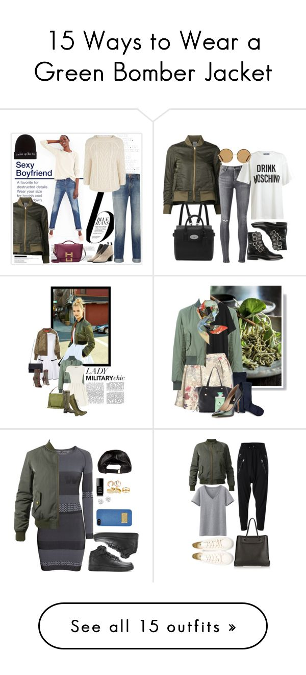 """""""15 Ways to Wear a Green Bomber Jacket"""" by polyvore-editorial on Polyvore"""