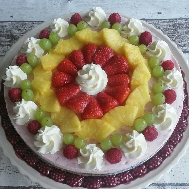 Fruit kwark taart