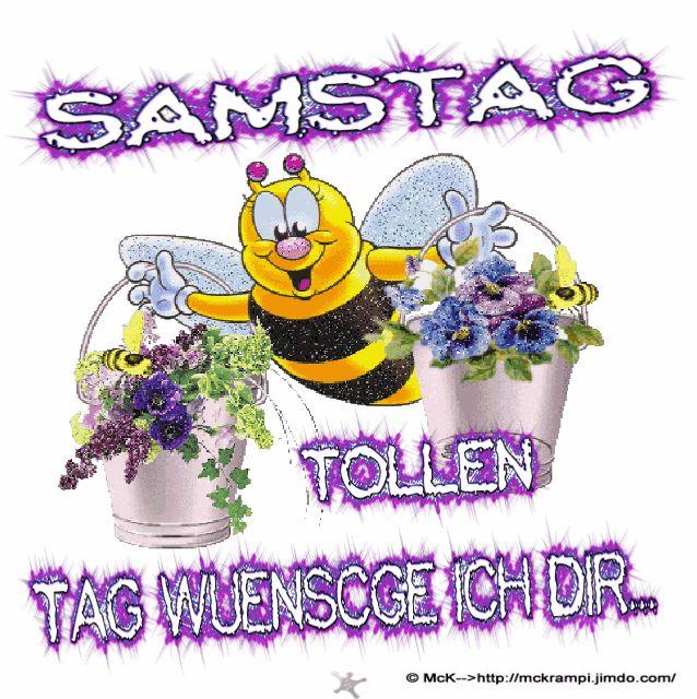 MCK Samstag Biene Willi  Animiert mit BBCode bei http://mckrampi.jimdo.com/g%C3%A4stebuchbilder-jappy-bildergalarie/jappy-gb-bilder/samstag/
