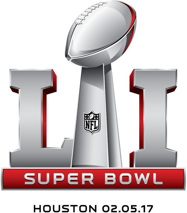 Super Bowl Alternate Logo (2016) - Super Bowl LI Logo Super Bowl 51 Logo with date and location - Game played February 5, 2017 in Houston, TX