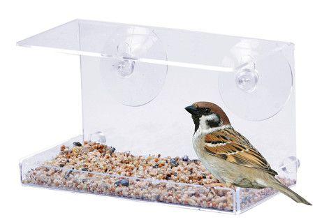 Vindu Fuglebrett er et gjennomsiktig fuglebrett som festes på vinduet.