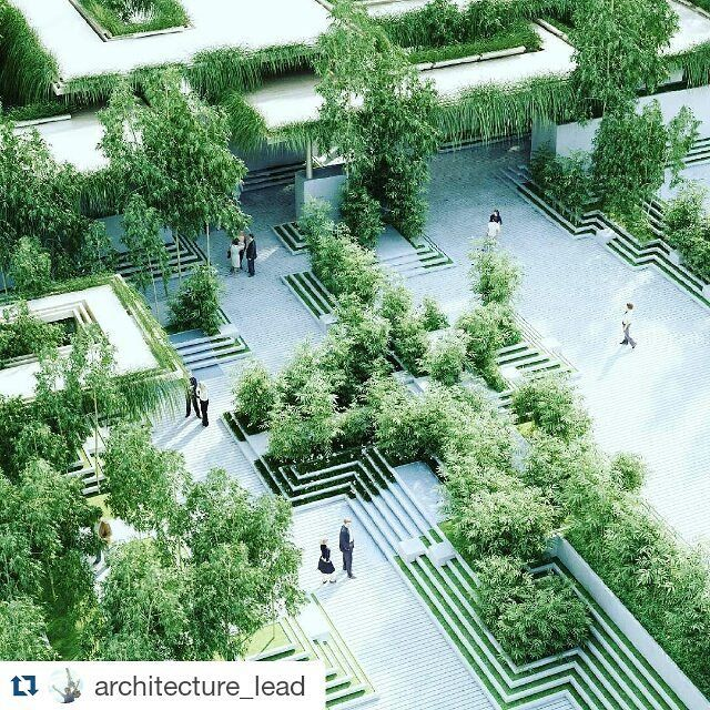 #Repost @architecture_lead with @repostapp  Magic Breeze Landscape Residences in India / Penda Architects; Pooja Crafted Homes Developers Ongoing  When completed the 8000 square meter landscape building will serve 145 apartments. Some of the landscape's s