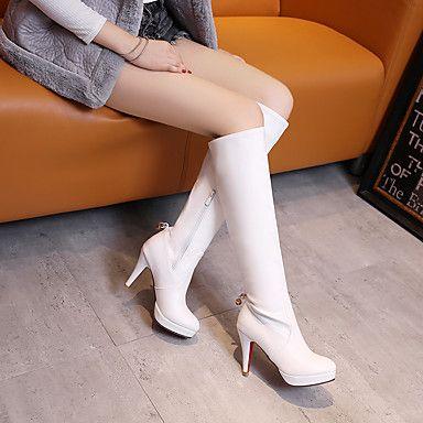 Γυναικεία παπούτσια-Μπότες-Καθημερινό Πάρτι & Βραδινή Έξοδος-Τακούνι Στιλέτο Πλατφόρμα-Πλατφόρμες Μοντέρνες Μπότες-Δερματίνη-Μαύρο 5231817 2017 – €32.33