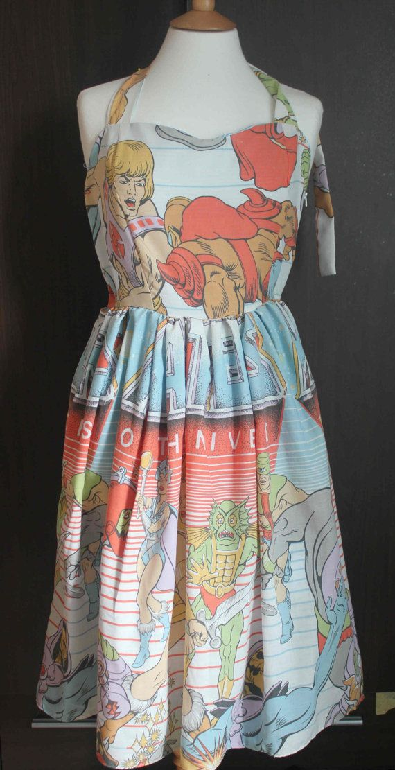 Hey, I found this really awesome Etsy listing at https://www.etsy.com/listing/158389448/he-man-up-cycled-retro-dress-uk-size-12
