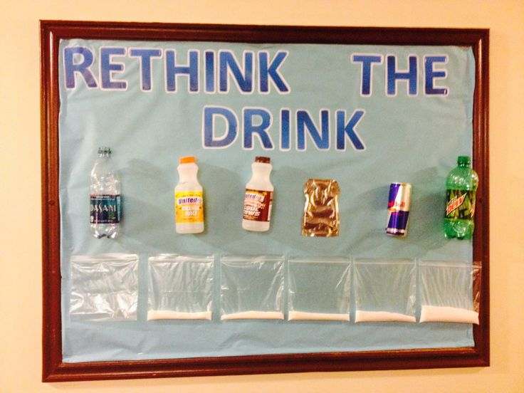 Resident Assistant bulletin board from Pinterest on the sugar levels in what you drink. Bethany College, West Virginia via Monica Westerheide Junior RA 2014.
