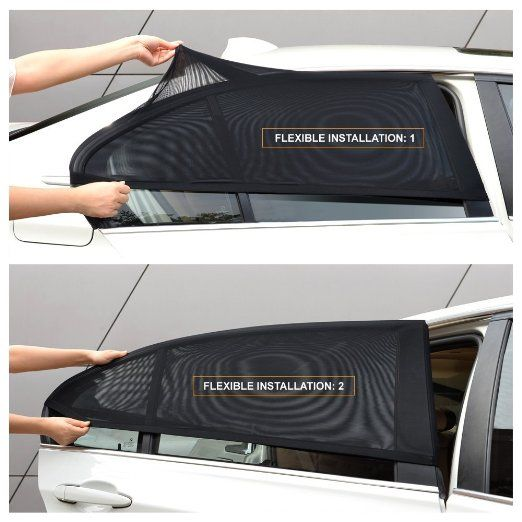 Amazon.com: Car Window Shade for Baby Car Sun Shade Breathable Mesh 2 Pcs: Baby