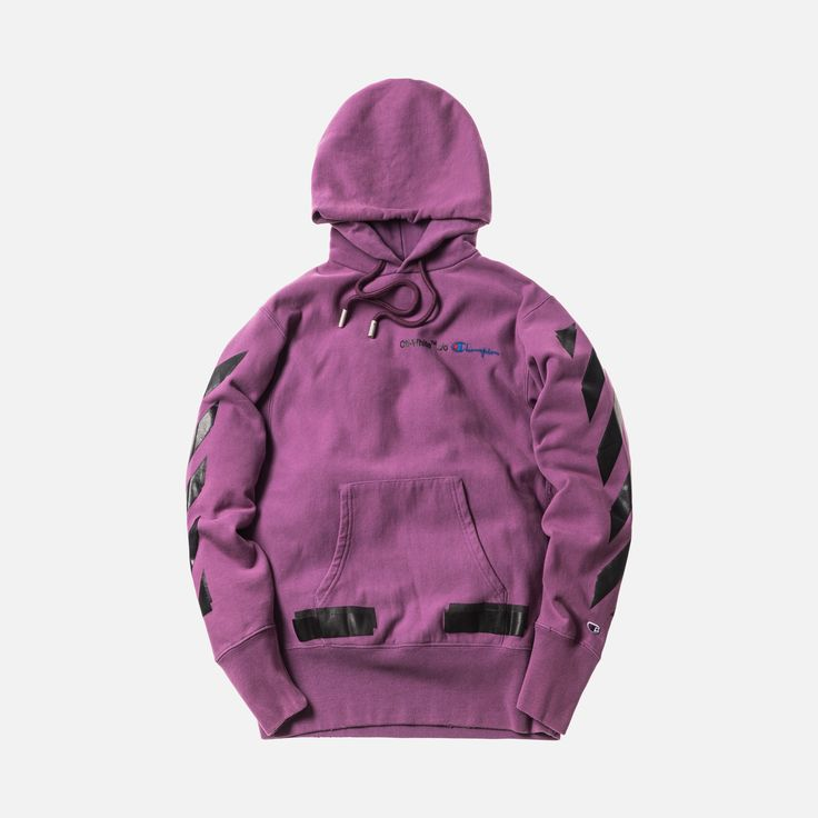 Off-White x Champion Hoodie - Violet / Black