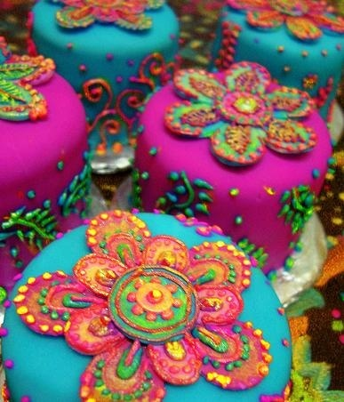 Bollywood Party Cake party...makes me think of my niece K., who is a young, very talented cake decorator.